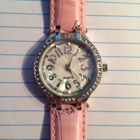 Womens Watch With Pink Band