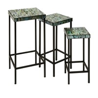 Aramis Mosaic Glass Tables - Set of 3