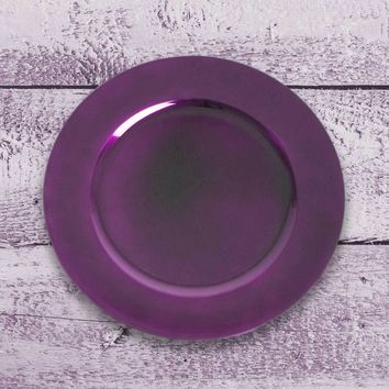 Amiltola Charger Plate in Eggplant | Set of 4