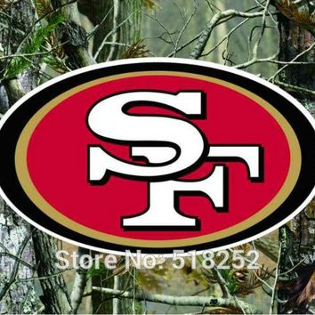 San Francisco 49ers real tree camo Flag 150X90CM NFL 3x5 FT Banner 100D Polyester Custom flag grommets 6038,free shipping
