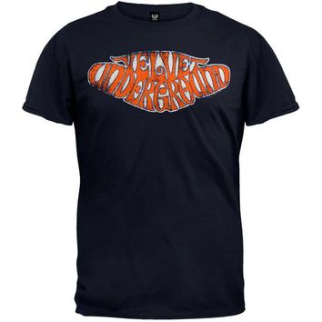 DCCKU3R Velvet Underground - Red Lettering Soft T-Shirt - Small