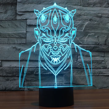 New Arrival LED Colorful Acrylic Multi-color Jedi 3D Illusion Starwars Lights = 5826276737