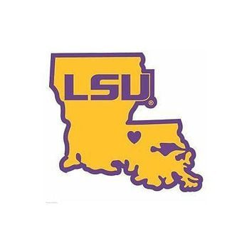 NCAA LSU Tigers Home State Decal Auto Car Window Vinyl Sticker