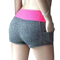 12 Colors Patchwork Women Esporte Work Out Shorts Summer Casual Women Workout Shorts Plus Size