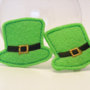 St. Patricks Day Irish Hat Hair Clip / Accessory Clip - Trinity Crossing