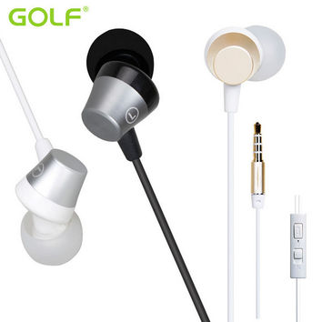 GOLF In-ear Wired Control Heavy Bass Earphone Headphone With Mic