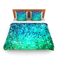 "Ebi Emporium ""Dream"" Blue Teal Fleece Duvet Cover"
