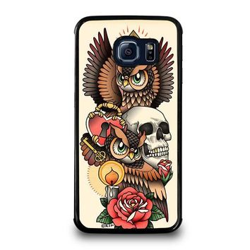 OWL STEAMPUNK ILLUMINATI TATTOO Samsung Galaxy S6 Edge Case Cover