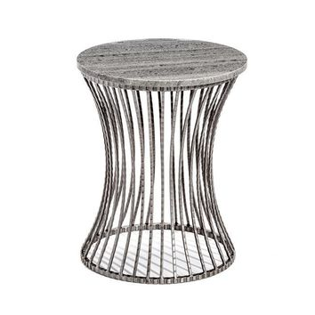 Pinera Side Table in Grey