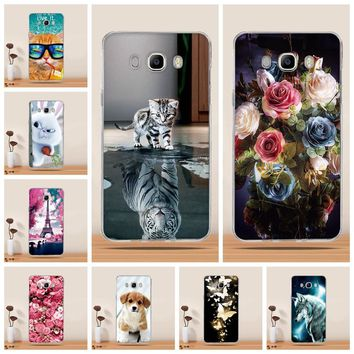 For Samsung Galaxy J7 2016 Cover Case fundas for Samsung Galaxy J7 2016 J710F Cover mobile Cases for Samsung J7 2016 Phone Case