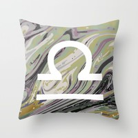 LIBRA Throw Pillow by KJ Designs