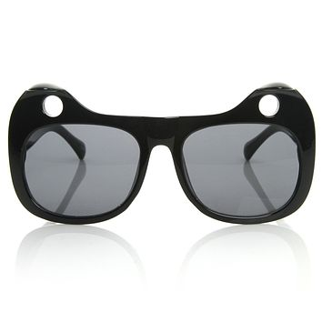 Popular Womens Designer Fashion Cat Ears Sunglasses 8577