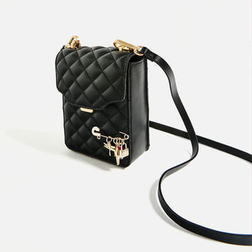 MINI CROSS-BODY BAG WITH QUILTED DETAIL DETAILS