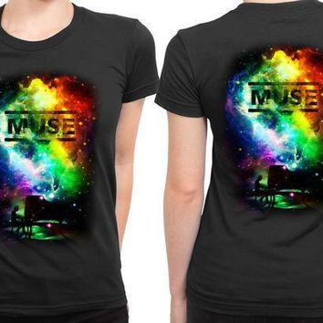 Muse Fan Art Space 2 Sided Womens T Shirt