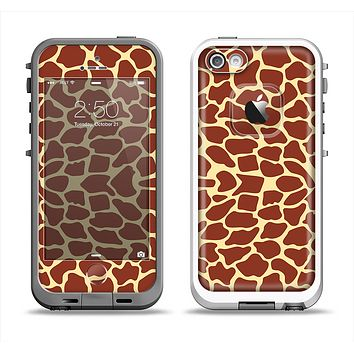 The Simple Vector Giraffe Print Apple iPhone 5-5s LifeProof Fre Case Skin Set