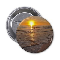 Button: Sunset by the Beach 2 Inch Round Button