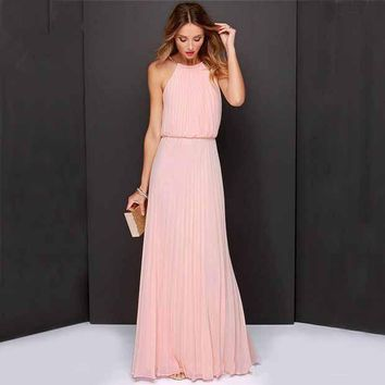 Fashion Prom Dress Ladies Sexy Sleeveless Backless Maxi Dress Formal Evening Party Date Cocktail Ball Gown Dress Bridesmaid Dress
