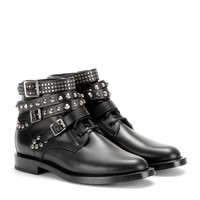 saint laurent - rangers leather ankle boots