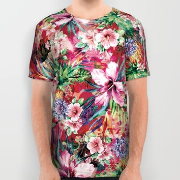 Tropical Jungle All Over Print Shirt by RIZA PEKER