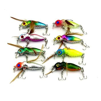 1pcs Lures Promotion Fly fishing Hooks Insects Style Salmon Flies Trout Single Dry Fly Fishing Lure Fishing Tackle YE-55