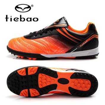 TIEBAO Professional Soccer Cleats Athletic Training Sneakers Football Shoes TF Turf Soles Boots Free Shipping