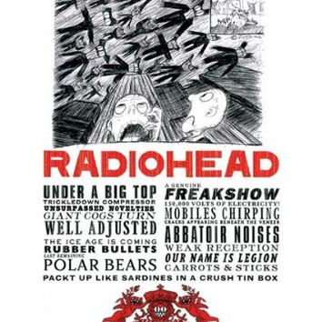RADIOHEAD POSTER - FEAR STALKS THE LAND - NEW 24X36