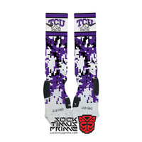Custom Nike Elite Socks - TCU Horned Frogs Custom Nike Elites - TCU Socks, Custom Elites, TCU Football