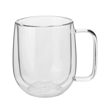 New 300ml Handmade Heat Resistance Double Wall Clear Glass Cup Transparent Coffee Milk Tea Beer Mug Home Office Drinkware