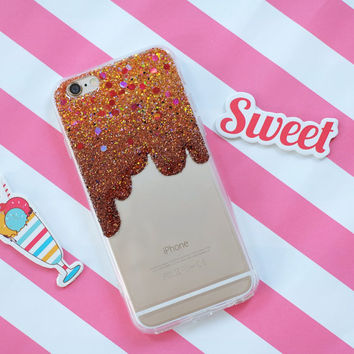 Brownie Funny - glitter case iphone 7 plus case iphone 7 case iphone 6s Plus case iphone 6s case iphone 6 Plus case iPhone 6 case