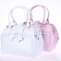 Princess sweet lolita handbags Cos cute bow lace white and pink handbag lolita cosplay gentlewoman bag loris002