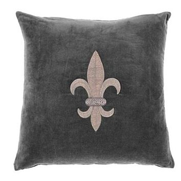 Grey Velvet Pillow | Eichholtz Theroux