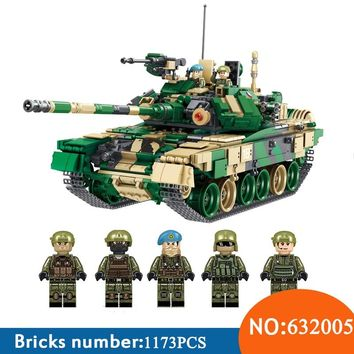 AIBOULLY 1773pcs 632005 Military T-90 Main Battle Tank with SWAT Minifigure Model Sets Building Blocks Bricks Toys for Kids Gift