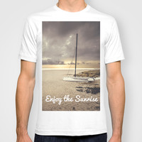 Dramatic sunrise on the beach T-shirt by Architect´s Eye | Society6