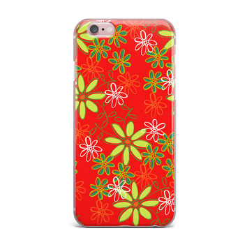 """Holly Helgeson """"Daisy Mae"""" Red Floral iPhone Case"""