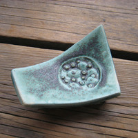 Little Moon Dish - Small Jewelry Tray - Ceramics and Pottery - Teabag Rest - Outer Space Decor - Tiny Ceramic Plate