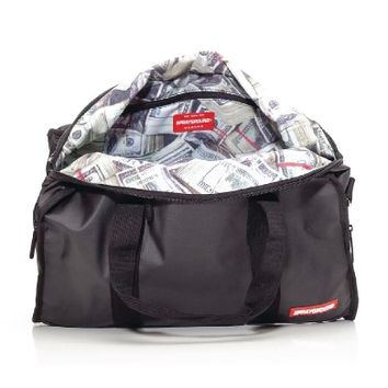 Sprayground Waxed Cotton Money Stashed Duffel Bag