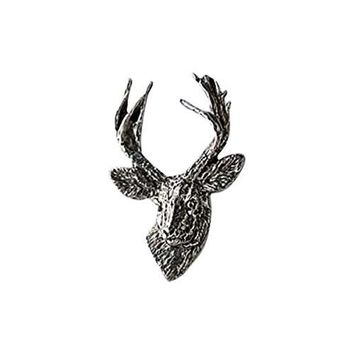 Creative Pewter Designs Pewter Mule Deer Front View Handcrafted Lapel Pin Brooch M011