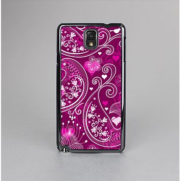 The Vivid Pink and White Paisley Birds Skin-Sert Case for the Samsung Galaxy Note 3