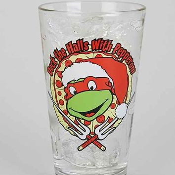 Deck The Halls With Pepperoni Pint Glass- Clear One