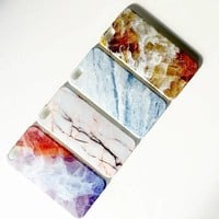Marble iPhone 6S 6 soft rubber case with Tempered Glass Screen Protector S007