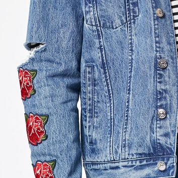 PacSun Denim Destroyed Los Angeles Jacket at PacSun.com