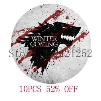 GAME of throne Winter is Coming Pendant Necklace keyring bookmark cufflink earring