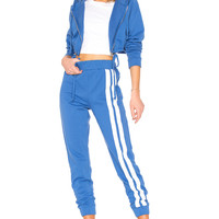 DANIELLE GUIZIO Cropped Tracksuit in Blue