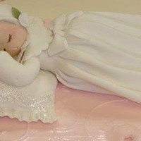 Baptism Cake Topper, Girl with White Baptism Gown and Bonnet, Girls Baptism, Baby Girl in Baptism Gown Cake Topper, Boy Baptism Cake Topper