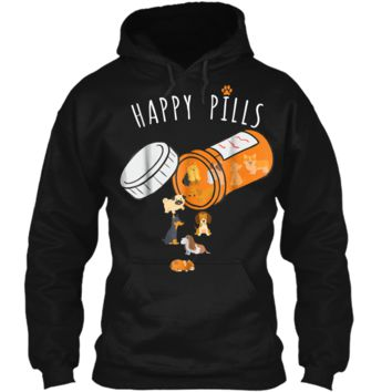 Happy Pills  Funny Gift  for Dog Lover Pullover Hoodie 8 oz