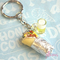 burrito and beer keychain - jillicious charms and accessories