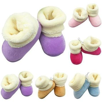 Newborn Infant Baby Winter Warm Snow Boots Booties Cotton Crib Shoes Prewalkers