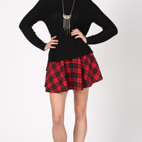 QUILTED CLASSIC TARTAN PRINT SKIRT