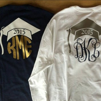 Heat Transfer Vinyl Monogram Graduation shirts