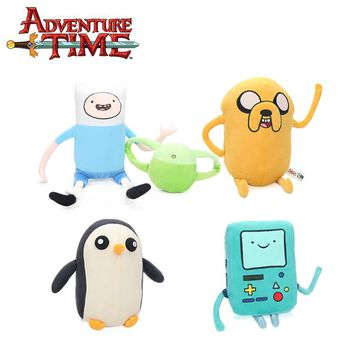 Set of 4pcs Jake Penguin Gunter Finn Beemo BMO Soft Stuffed Animal Dolls  Adventure Time Plush Toys Party Supplies Brinqudoes be